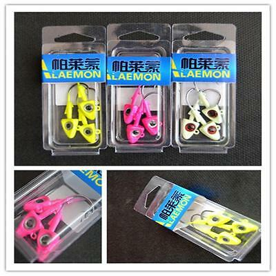 1pcs 10g Red Fish Triangle Head Jig Hooks Fishing Lures Bait Fishing Tackle SM