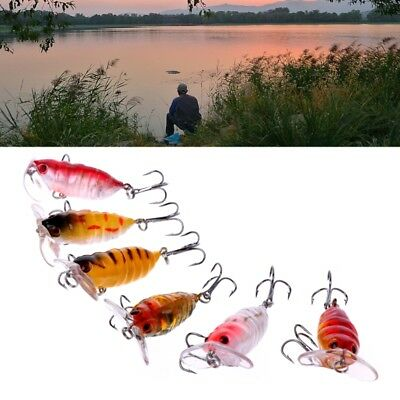 3.5cm 4g 8# Hook Insect Cicada Fishing Tackle Lure Freshwater Bass CrankBaits