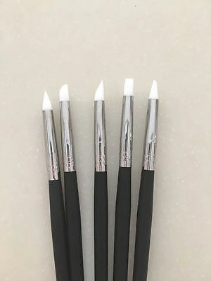 Dental Adhesive Composite Resin Cement Porcelain Tooth Silicone Brush Pen 5 Pcs