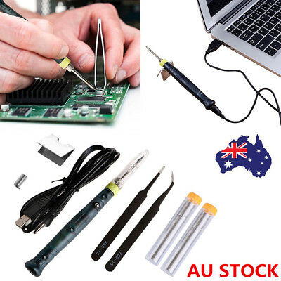 5V 8W Professional Mini LED Indicator USB Powered Welding Soldering Iron Kit