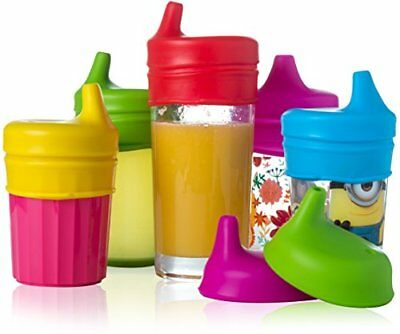 Baby Sippy Lids 5 Pack Spill-Proof Make Cups Sippy Cups Baby Drinkware, New