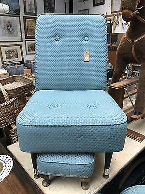 Mid century chair and stool