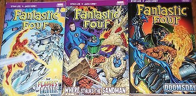 Marvel THE FANTASTIC FOUR x 3 The Flames of Battle / Doomsday / Where Stalks..