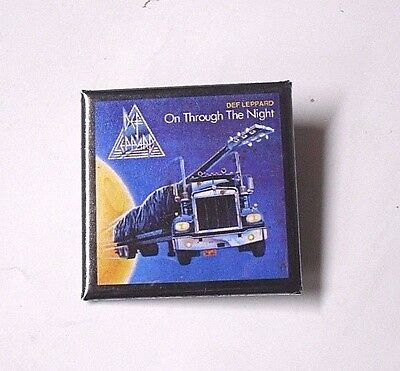 New DEF LEPPARD On Through The Night PIN BADGE Truck Album Cover MUSIC Merch'