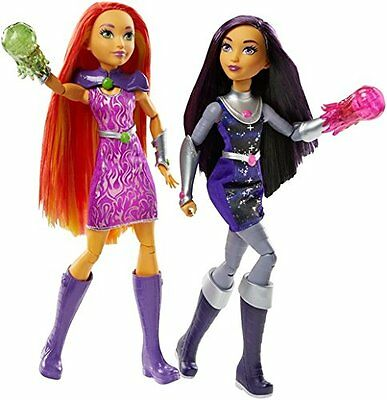 DC Super Hero Girls Intergalactic Sisters BLACKFIRE and STARFIRE 2 Pack Doll Set