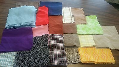 """Vintage Pre-Cut Quilt Block Lot 7.5"""" Squares Nearly 3 lbs. 135+ Pieces"""