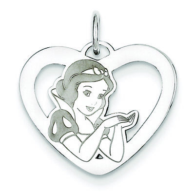 Sterling Silver Disney Snow White Heart Charm WD214SS