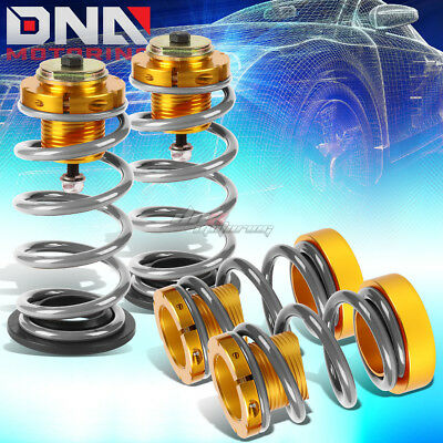 """For 06-11 Civic 1""""-4"""" Adjustable Suspension Coilover Sleeve Kit W/silver Spring"""