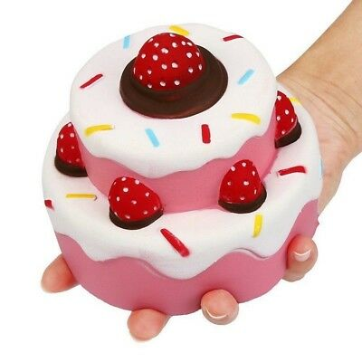 11.5CM Jumbo Squishy Strawberry Cake Scented Super Slow Rising Kids Toy Cute