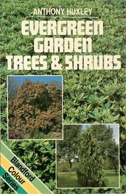 Evergreen Garden Trees and Shrubs (Colour) Paperback Book The Cheap Fast Free