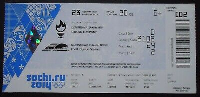 mint TICKET 23/2/2014 Olympic Games Sotschi Sochi Closing Ceremony C02