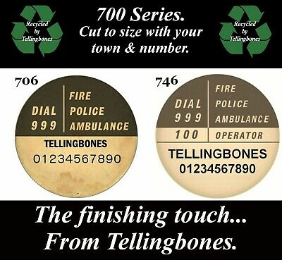 ☎️ Gpo Bt 700 Series Telephone Trimphone Rotary Dial Labels Your Town+Number ☎️