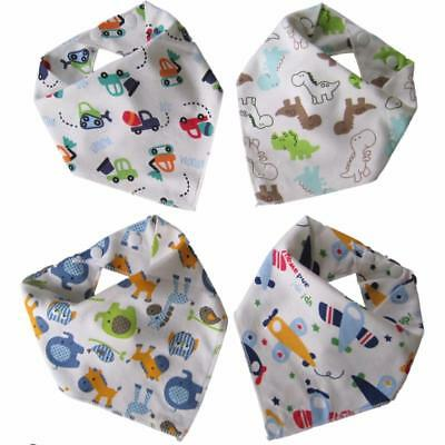 Baby Bandana Dribble Bibs (Boy 4 Pack) Blue.teething drool burp toddler babies