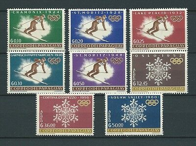 LATIN AMERICA - PARAGUAY - 1963 MI 1192 à 1199 -  TIMBRES NEUFS** MNH LUXE