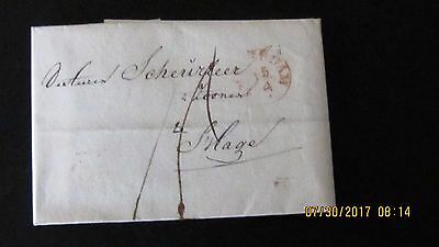 Stampless Cover to the Hague. Scarce.  (A)