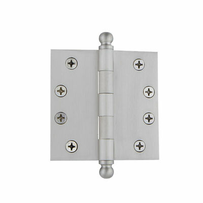 "Grandeur 4"" Ball Tip Heavy Duty Hinge with Square Corners"