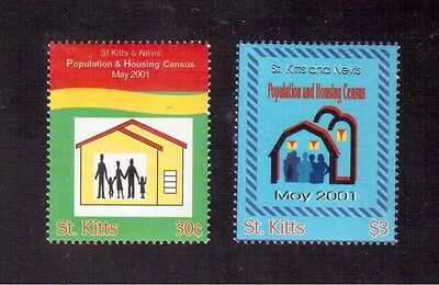 St. Kitts, Census 2001 #494/95 Set Mint Never Hinged !!
