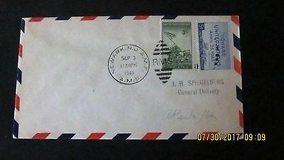 Very Nice RMS Cancel 1946 CDS Newark. A.M.S. IWO Jima and UN Stamps