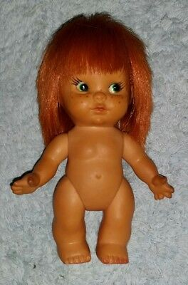 Adorable Vintage Titian Redhead Red Hair Japan Doll Green Eyes Freckles