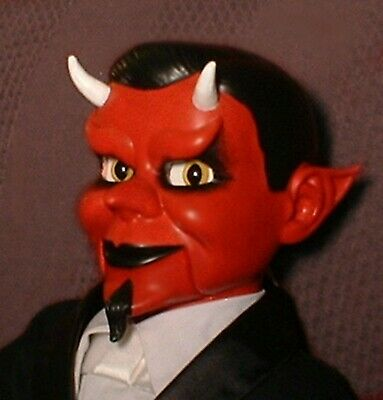 """Haunted Ventriloquist Doll """"EYES FOLLOW YOU"""" Devil Puppet Dummy Oddity Prop"""