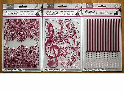 """Crafter's Companion Catitudes 5""""x7"""" Embossing Folder - You Choose Design"""