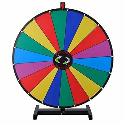 18 Segment 30in Tabletop Colorful Spin Prize Wheel for Fortune Carnival Spin Gam