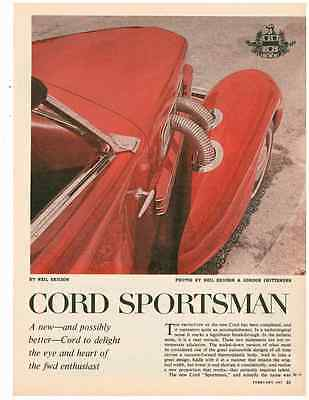 The Cord Sportsman ~ Original 3-Page 1965 Article / Ad