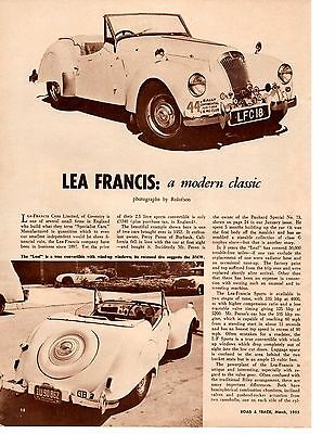 1955 Lea Francis  ~  Original 2-Page Article