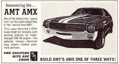 1967-1968-1970 Amc Amx  ~  Awesome Original Amt Model Kit Smaller Ad