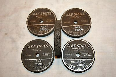"""Gulf States 3"""" X 1/2"""" X 3/8"""" Grinding Wheel A24T 23,000 RPM's (Qty of 5)"""