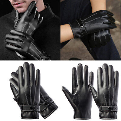 NEW PU Leather Motorbike Motorcycle Gloves Full Finger Touch Screen Warm Glove