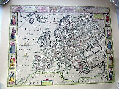 MAP of EUROPE and CHIEF CITIES by JO SPEED 1626 vgc