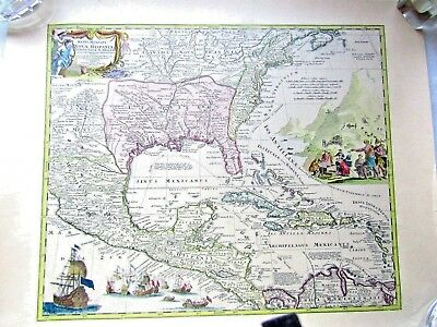 MAP of NORTH AMERICA by HOMANN 1750 Perfect condition