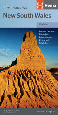 Hema New South Wales Handy Map 15Th Edition 'new' - Camping Fully Indexed Fuel