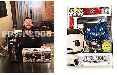 Wwe Finn Balor Hand Signed Chase Funko Pop 34 Action Figure With Proof And Coa
