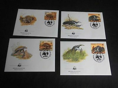22774/ Fauna Tiere Animals WWF FDC Set Paraguay