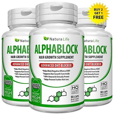 Advanced Dht Alphablock Herbal Hair Loss Support Stimulate Growth Promoter Pills