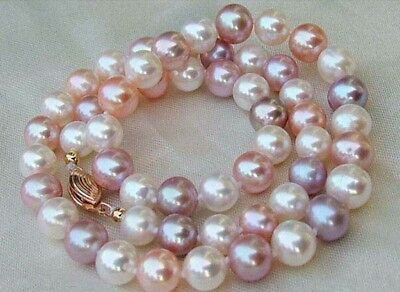 Charming 7-8mm Natural Multicolor Freshwater Cultured Pearl Necklace 18''