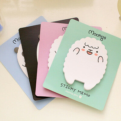1x Sheep / Panda Sticky Notes Sticker Bookmarker Memo Pad Home Office Class ATAU