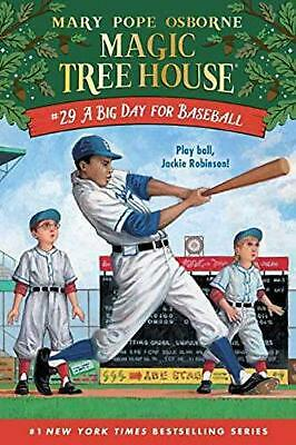 A Big Day For Baseball: Magic Tree House by Mary Pope Osborne Hardcover Book Fre