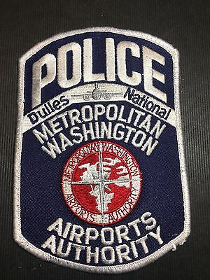 Dulles National Washingtion Dc Airport Police Shoulder  Patch