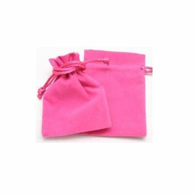Fuschia Double Sided Velveteen Jewellery Gift Pouches Pouch Bags 11x16cm
