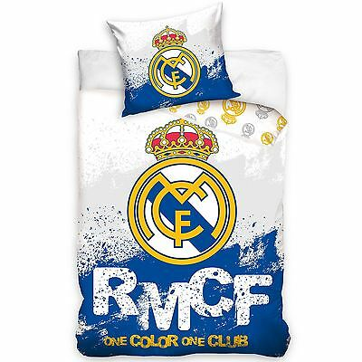 Real Madrid Cf Rmcf Official Single Duvet Cover Set Reversible Cotton Bedding