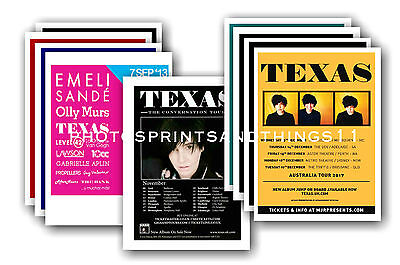 TEXAS  - 10 promotional posters  collectable postcard set # 1
