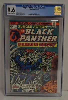 Jungle Action Black Panther #18 (1975) CGC 9.6 Comic Book S594