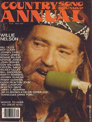Country Annual Song Roundup Magazine Fall 1977 Willie Nelson 071917nonjhe