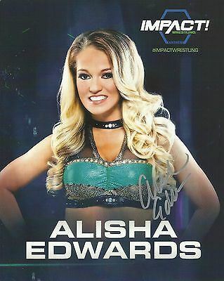 Official TNA / GFW Impact Wrestling Hand Signed Alisha Edwards 8x10 Photo