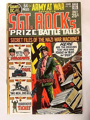 DC Comics Our Army at War #229 Sgt. Rock (1971) High Grade NM 9.2-9.4 FC66