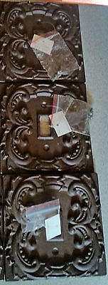 Lot Of 3 Cast Iron French Fleur De Lis Electric Light Switch Plate Cover Single