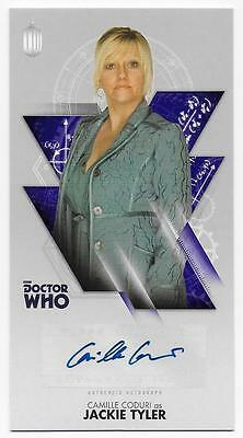 CAMILLE CODURI as Jackie Tyler DOCTOR WHO 2016 Topps Widevision AUTOGRAPH